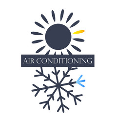 air conditioning and ventilation symbol vector image vector image