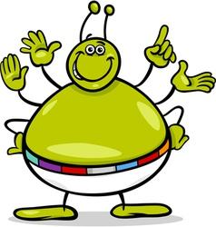 alien character cartoon vector image vector image