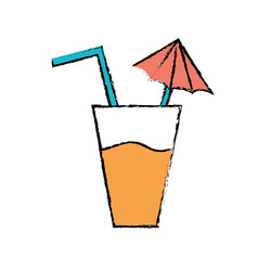 delicious refreshment glash to refresh the day vector image vector image
