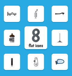flat component set of auto component steels vector image vector image