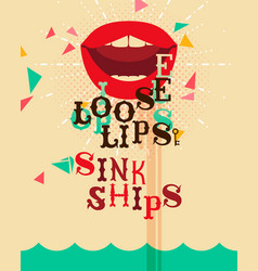 loose lips vector image vector image