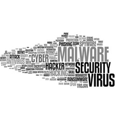 malware word cloud concept vector image