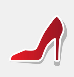 woman shoe sign new year reddish icon vector image