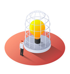 3d isometric businessman standing with vector image