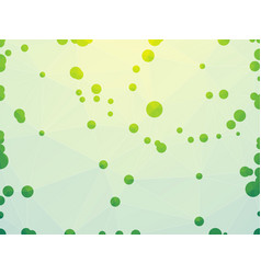 abstract geometric green network background vector image