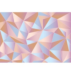 Abstract pink triangles 3d background vector image