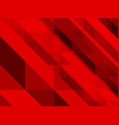 abstract red background of triangles vector image