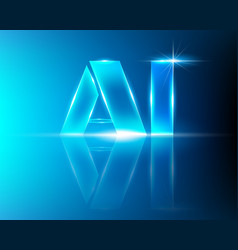 ai letter digital artificial intelligence and big vector image