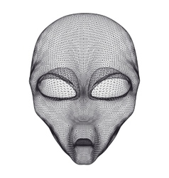 Alien head mesh vector image