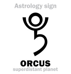 Astrology planet orcus vector
