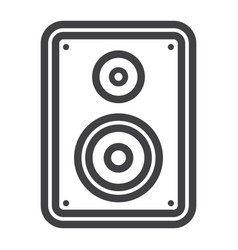 audio monitor line icon sound and speaker vector image