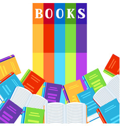 background with books vector image