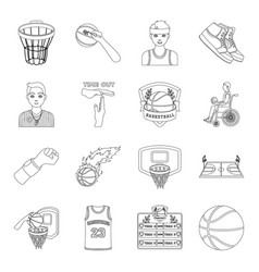Ball game sport fitness and other icons of vector
