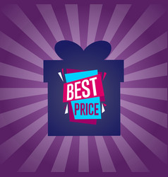 Best price sticker on box silhouette vector