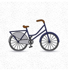 bicycle vehicle retro icon vector image