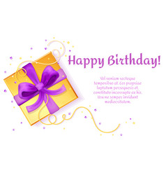 birthday poster present box template vector image