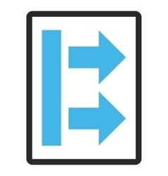 Bring Right Framed Icon vector