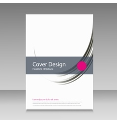 Brochure template cover color line design vector image