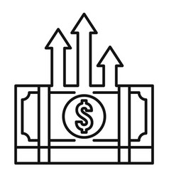 Cash pack money transfer icon outline style vector