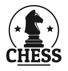 chess sport logo simple style vector image