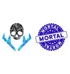 Collage mortal landing airplanes icon vector