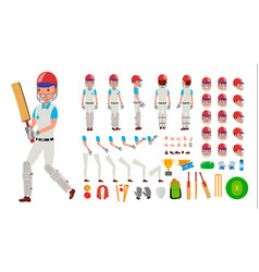 cricket player male sport cricket player vector image