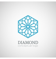 Diamond logo isolated on white vector