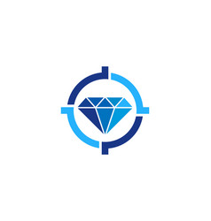 diamond target logo icon design vector image