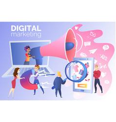 digital marketing for online trading carton vector image
