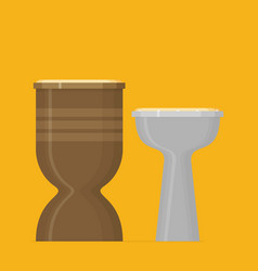 djembe drum vector image