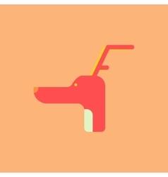 Dog head with horns Christmas vector