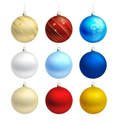 Empty christmas bauble templates vector