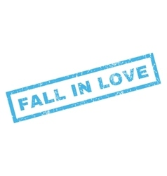 Fall In Love Rubber Stamp vector