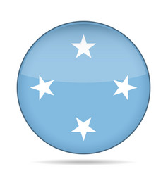 Flag of micronesia shiny round button vector