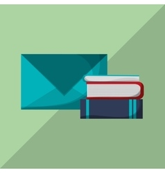 Flat about book design vector image