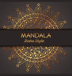 Golden mandala pattern background vector