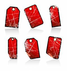 grunge tags vector image
