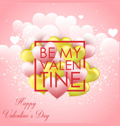 happy valentines day with p vector image