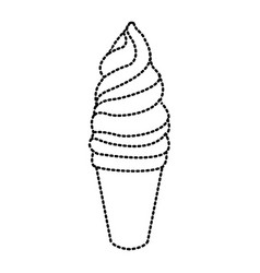 ice cream cone vector image