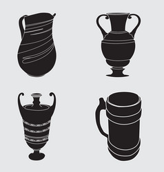 image of antique dishes vector image