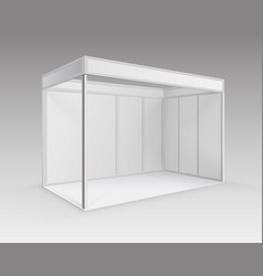 Indoor trade exhibition standard stand vector