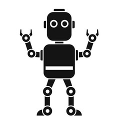 Intelligent robot icon simple style vector