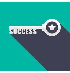 Key to Success minimal style concept vector
