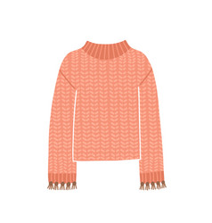 Knitted jumper cute pink vector