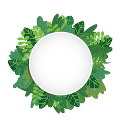 leaves background circle vector image