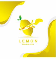 lemon splash vector image