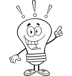 Light bulb with a bright idea vector image