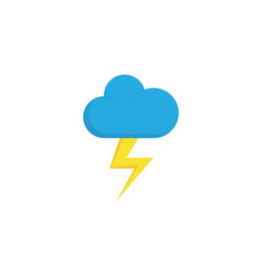 Lightning flat icon symbol premium quality vector
