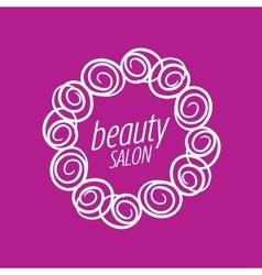 logo beauty salon vector image