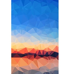 low poly geometric abstract background for brochur vector image